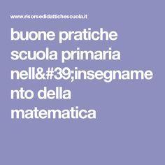 buone pratiche scuola primaria  della matematica