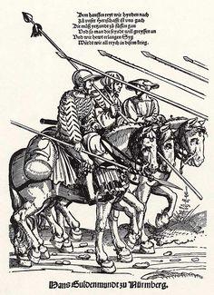 Der Heereszug der Landsknechte. Blatt 10, die Nachhut (um 1535)