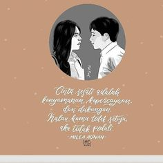 Cinta sejati adalah kenyamanan, kepercayaan, dan dukungan. Kalau kamu tidak setuju, aku tidak peduli. Dilan - Milea Dilan Quotes, Islamic Quotes Wallpaper, Quotes Galau, Bad Life, Movie Quotes, Deep Thoughts, Qoutes, Humor, My Love