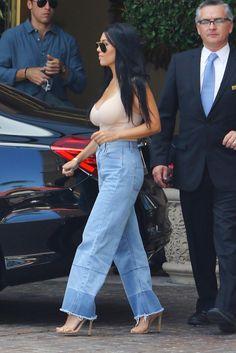 Kourtney Kardashian - denim pants