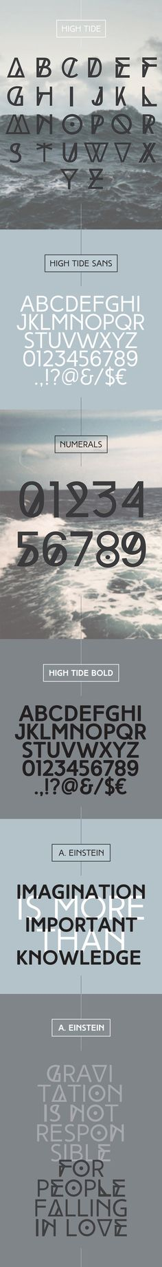 HIGH TIDE free typeface on Behance