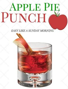 Apple Pie Punch #holiday #Recipe from SMIRNOFF
