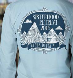 Love this shirt design for sisterhood retreat!