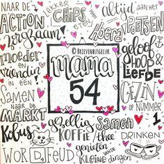 Happy birthday mama! www.brievenbusgeluk.nl Hand Lettering Art, Doodle Lettering, Happy Birthday Mama, Letter Art, Hello Everyone, Handwriting, Diy And Crafts, Doodles, Bullet Journal