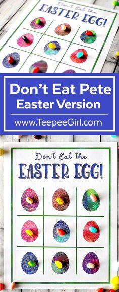 This Don't Eat Pete-Easter version is Easter fun for all ages! It's great for parties, playdates, and quiet afternoons at home. Get it today at www.TeepeeGirl.com!