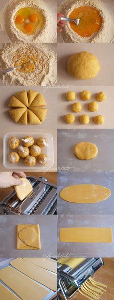 homemade pasta, fresh pasta, egg noodles, semolina flour, to Pasta Casera, Fresh Pasta, Pasta Noodles, How To Cook Pasta, Recipe To Make Pasta, Fresh Egg Noodle Recipe, Egg Pasta Recipe, How To Make Noodles, Make Your Own Pasta