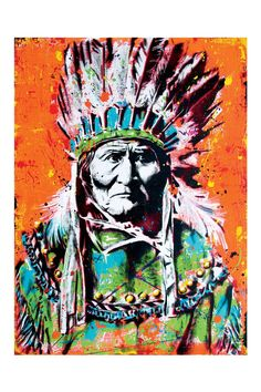 Geronimo 12 x 18 High Quality Art Print by pointblankart on Etsy