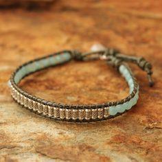 Novica 'Hill Tribe Memory' Amazonite Quartz Bracelet