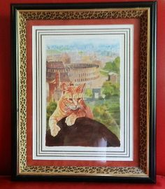 $51 Original painting from Rome of cat overlooking the coloseum. To purchase, visit www.buyrarestuff.com.