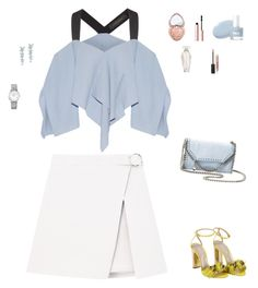 """Untitled #59"" by cristinestyle on Polyvore featuring Casadei, STELLA McCARTNEY, Tiffany & Co., Longines, Roland Mouret, Too Faced Cosmetics, Burberry and Victoria's Secret"