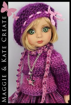 """OOAK Purple & Pink Outfit Tonner Patsy 10"""" Ann Estelle Doll by Maggie & Kate"""