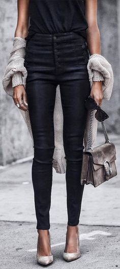 a pair of black skinnies that`ll look good with pretty much everything you own