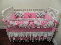 Baby Girl Crib Bedding Set Toinette  Girl Baby by BabyBeddingbyJBD