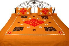 Bed Sheet Painting Design, Fabric Painting, Hand Embroidery Designs, Applique Designs, Bed Covers, Pillow Covers, Designer Bed Sheets, Applique Cushions, Bed Sheets Online