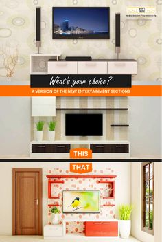 ach one's preference would differ from others and when it comes to equally best designs the option becomes topsy-turvy. Haha! Modern Tv Unit Designs, Modern Tv Units, Cool Designs, Living Room Cabinets, Tv Cabinets, Tv Unit Online, Haha, Things To Come, The Unit