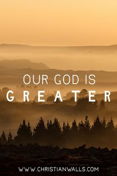 Our God is Greater Canvas Wall Art Print - Christian Walls Christian Motivation, Christian Quotes, Powerful Scriptures, Bible Verses, Canvas Art Prints, Canvas Wall Art, I Love You Dear, Wall Art Quotes, Quote Art