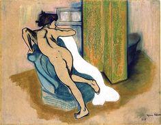 After the bath - Suzanne Valadon,1908 Paris, France Style: Post-Impressionism Technique: pastel Material: papel