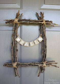 fantastic fall twig wreath, crafts, wreaths, Fall Twig Wreath from Design Dining Diapers