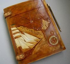 Leather Photo Album A4 Ring Album by TiVergy on Etsy