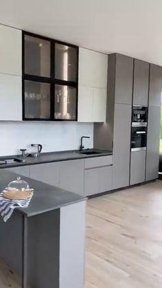 Kitchen Room Design, Modern Kitchen Design, Kitchen Decor, Diy Kitchen Cupboards, Kitchen Storage, Kitchen Furniture, Home Furniture, Furniture Design, Bed Frame Design