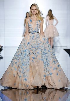 Something blue wedding gown! Via:LuckyMagazine 39 Dream Wedding Dresses Straight From The Couture Runways