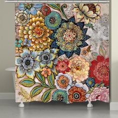 Looking for Haskell Boho Bouquet Single Shower Curtain World Menagerie ? Check out our picks for the Haskell Boho Bouquet Single Shower Curtain World Menagerie from the popular stores - all in one. Bohemian Shower Curtain, Floral Shower Curtains, Shower Curtain Sets, Boho Curtains, Window Curtains, Image Desert, Boho Bathroom, Bathroom Ideas, Bathroom Designs