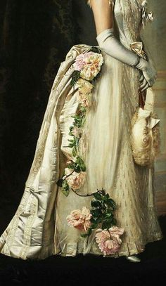 Traveling through history of Art...Portrait of an Elegant Lady, detail, by Francois Brunery (1849–1926 ).