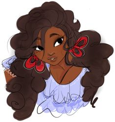 Day 8 - Character you look like the most. This version of Seychelles with the crinkly hair. But shorter. Black Girl Cartoon, Black Girl Art, Black Women Art, Black Girls, Black Anime Characters, Cute Characters, Skins Characters, Cartoon Kunst, Cartoon Art