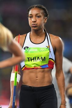 Thiam Nafissatou of Belgium pictured during Athletics Women's Heptathlon Javelin…