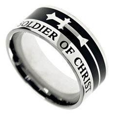 'Soldier Of God' Men's A-Cross Ring | SonGear.com