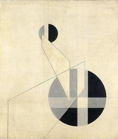 László Moholy-Nagy (Hongrie/USA, 1895-1946) – Composition A.XX (1924)