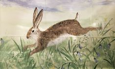 Bouncing hares country living wall mural art Chill Out Room, Hand Painted Walls, Mural Wall Art, Modern Wall Art, Country Living, Traditional, Artist, Painting, Country Life