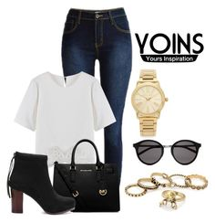 """YOINS JEANS"" by milovanovic ❤ liked on Polyvore featuring MICHAEL Michael Kors, Yves Saint Laurent, Michael Kors, vintage and yoins"