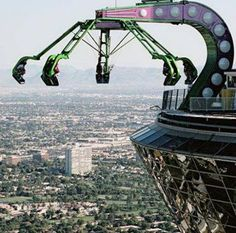 Insanity--scariest of the three rides on top of the Stratosphere.