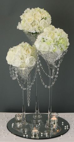 Thousands of affordable wedding products in store including table centrepieces, venue decorations, wedding favours, candy bar accessories, wedding table accessories and wedding gifts. Glass Centerpieces, Wedding Centerpieces, Wedding Table, Diy Wedding, Wedding Decorations, Martini Glass Centerpiece, Centrepieces, Flower Decorations, Wedding Ideas