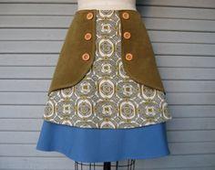 Folk Artist triple layer skirt Sz 12 by LoveToLoveYou on Etsy, $70.00