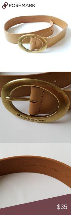 904e3d74fcfe Calvin Klein ran leather belt medium - C1 Calvin Klein light brown leather  belt. Size