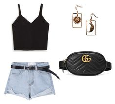 """Untitled #19"" by georgiepaws on Polyvore featuring Monki and Gucci"