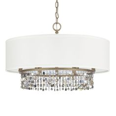 Capital Lighting 4216-544 The Harper Collection 6 Light Full Sized Drum Pendant Brushed Gold Indoor Lighting Pendants