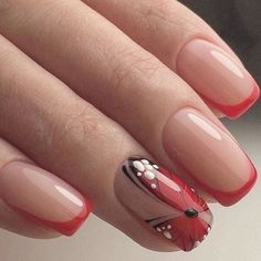 Anyone of you like #butterfly? #butterflynaildesign #naildesign #nailart #nailsalon #red #rednails