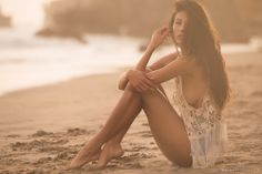 Natazha Taya - Swimsuit Modeling Photography - Florida Beaches Sunsets are tough to beat -- Click this link to support my work http://joey4si.com/Pin2Win