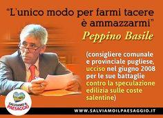 in memoria di Peppino Basile. #salviamoilpaesaggio