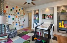 Kids game room Design Ideas, Pictures, Remodel and Decor...lots of ideas