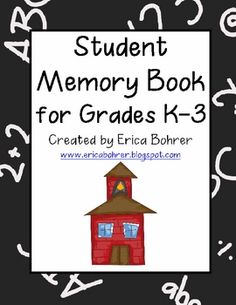 This 27 page download is for an end of the year student memory book.  The book includes covers for grades K-3.  Pages include: my classmates, my te...