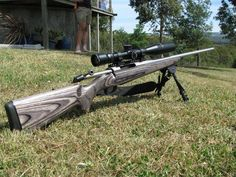 Tikka T3 Stainless Laminate in 30-06. I'm in love with how this thing shoots!! Now I just need to buy it