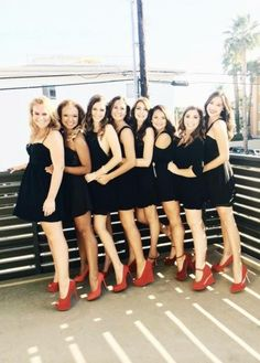 Recruitment • Preference Night •  Outfit: black dress, pearls, red heels • Decorations: Twinkle lights hanging down the wall, gold sparkle table runners, red roses • #Sorority #Recruitment #RecruitmentIdeas #Ideas #Rush #Decorations #Decor #Alpha #Gamma #Delta #AlphaGam #Gam #AGD #AlphaGammaDelta #Greek #TSM #Pref #Preference