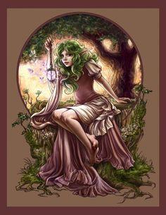 SciFi and Fantasy Art Peekaboo by Adele Lorienne
