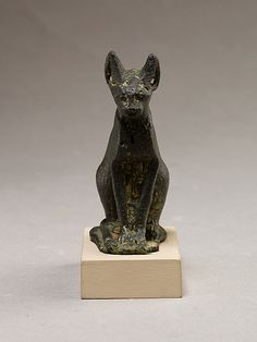 Cat Period: Late Period–Ptolemaic Period Date: 664–30 B.C. Geography: Country of Origin Egypt Medium: Bronze or copper alloy