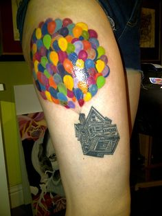 Disney's Up tattoo. I usually dislike disney tattoo's but this one is amazing. Look at the detail. Love
