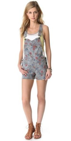 d21277bab347 a much more practical and cute alternative to a jumpsuit  Free People  Boyfriend Short Overalls via